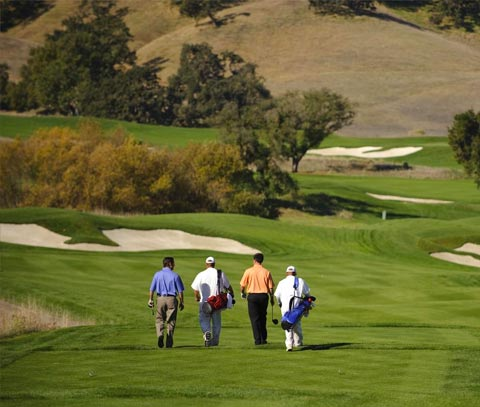 Practicar el golf en California